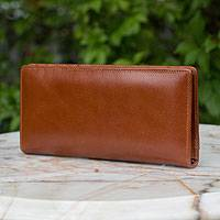 Leather wallet, 'Versatile Brown' - Leather wallet