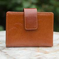 Leather wallet, 'Infinite Brown' - Leather wallet