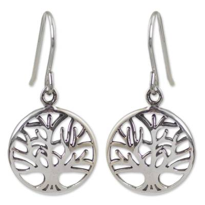 Silver Tree Earrings from Thailand