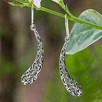 Sterling silver dangle earrings, 'From the Sky' - Sterling silver dangle earrings