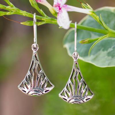 Sterling silver dangle earrings, Sunrise in Thailand
