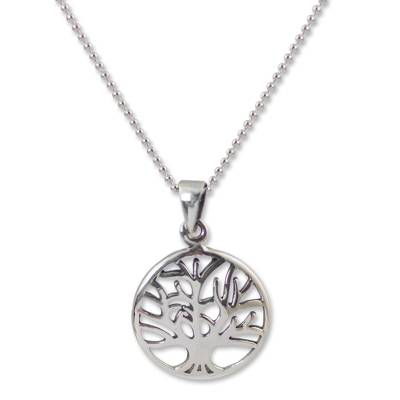 Handcrafted Sterling Silver Tree Pendant Necklace