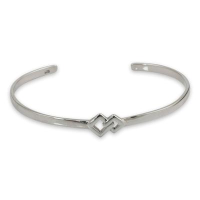 Modern Sterling Silver Cuff Bracelet