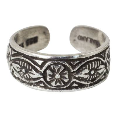 Floral Sterling Silver Toe Ring