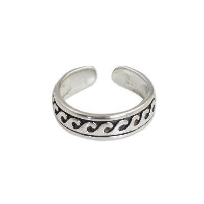 Modern Sterling Silver Toe Ring