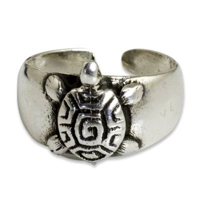 Hand Crafted Sterling Silver Turtle Toe Ring