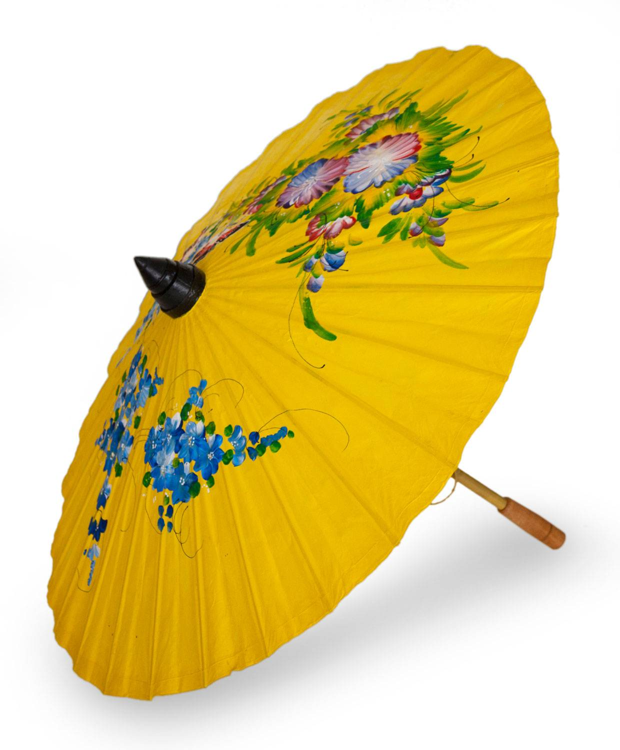 Saa Paper And Bamboo Parasol In Sunny Yellow Sunshine Garden Unicef Market