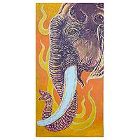 'The Elephant' - Expressionist Elephant Painting