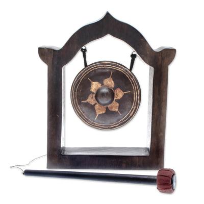 Brass gong, 'Temple Tam-Tam' - Brass gong