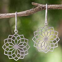 Sterling silver dangle earrings, 'Thai Sparklers' - Women's Sterling Silver Earrings from Thai Artisan Jewelry
