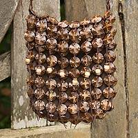 Coconut shell shoulder bag, 'Eco Lover' - Handmade Coconut Shell Handbag Thailand
