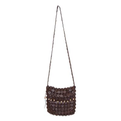 Coconut shell shoulder bag, 'Eco Nature' - Thai Handmade Coconut Shell Eco Handbag