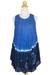 Cotton batik dress, 'Blue Thai Holiday' - Crinkle Cotton Sleeveless Blue Ombre Dress Shades from Brigh (image 2c) thumbail