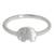 Sterling silver band ring, 'Twinkling Elephant' - Brushed Satin Sterling Silver Ring with Cubic Zirconia (image 2a) thumbail