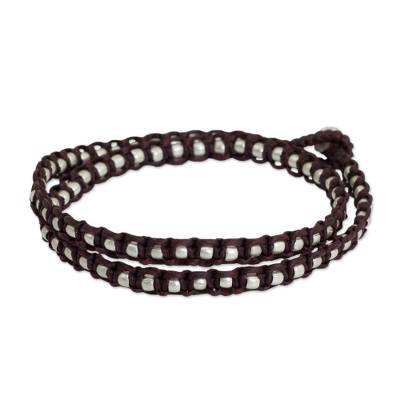 Silver Accents Wrap Bracelet Thai Hill Tribe Jewelry