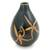 Celadon ceramic vase, 'Dragonfly Orchids' - Celadon Ceramic Vase Handcrafted in Green and Brown (image 2a) thumbail