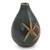Celadon ceramic vase, 'Dragonfly Orchids' - Celadon Ceramic Vase Handcrafted in Green and Brown (image 2b) thumbail