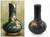 Celadon vase, 'Forest Butterflies' - Dark Green Glazed Celadon Vase Crafted by Hand (image 2) thumbail