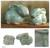 Celadon ceramic figurines, 'Blue Rabbits' (pair) - 2 Celadon Ceramic Rabbit Figurines in Light Blue thumbail