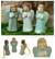 Celadon ceramic ornaments, 'Christmas Angel' (set of 3) - 3 Handmade Angel Ornaments in Celadon Ceramic thumbail