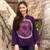 Cotton batik tunic, 'Thai Magic in Purple' - Batik Tie Dye Cotton Tunic Yoga Top Handmade thumbail