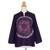 Cotton batik tunic, 'Thai Magic in Purple' - Batik Tie Dye Cotton Tunic Yoga Top Handmade (image 2c) thumbail