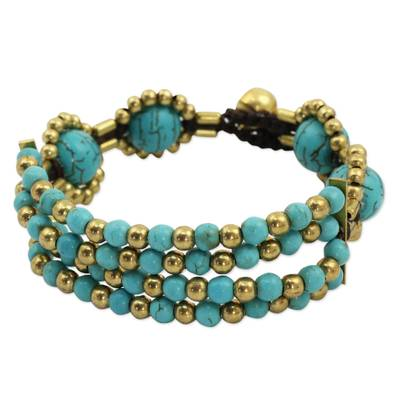 Beaded Crocheted Bracelet Thai Artisan Jewelry