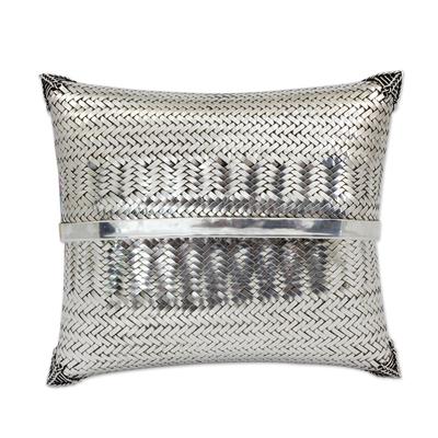 Novica Silver plated clutch handbag, Silver Nights