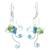 Peridot floral earrings, 'Glistening Clover' - Multi-gemstone Earrings Thai Artisan Jewelry (image 2a) thumbail