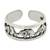 Sterling silver toe ring, 'Elephant Walk' - Thai Elephants Sterling Silver Toe Ring (image 2a) thumbail
