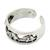 Sterling silver toe ring, 'Elephant Walk' - Thai Elephants Sterling Silver Toe Ring (image 2b) thumbail