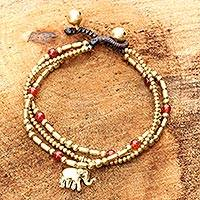 Featured review for Carnelian beaded bracelet, Thai Elephant Charm