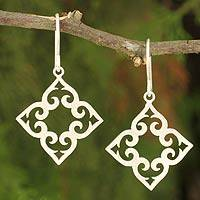 Sterling silver dangle earrings, 'Kaleidoscope Hearts'