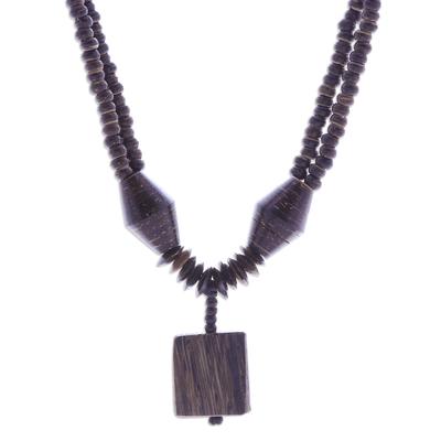 Thai Handmade Coconut Shell Pendant Necklace