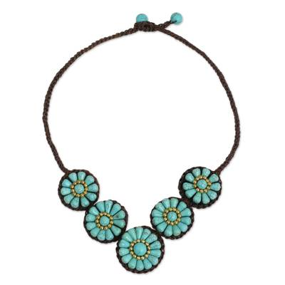Artisan Crafted Thai Floral Crochet Necklace