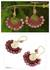 Chalcedony dangle earrings, 'Rose Kiss' - Rhodonite and Brass Handcrafted Earrings (image p215704) thumbail