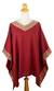 Cotton tunic top, 'Flowing Nature in Red' - Embroidered Red Cotton Tunic Top from Thailand thumbail