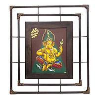 'Religion in Ganesha II' - Framed Thai Hindu Painting