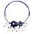Lapis lazuli and cultured pearl flower necklace, 'Blue Sonata' - Lapis Lazuli and Pearl Flower Choker Necklace thumbail