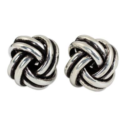 Artisan Crafted Silver Stud Earrings