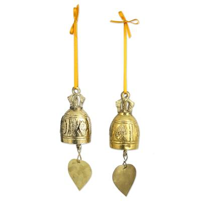 Brass Ornaments Crafted by Hand (pair)