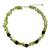 Peridot and garnet beaded necklace, 'Heaven's Gift' - Thai Handmade Peridot Necklace with Garnet Clusters (image 2a) thumbail