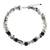 Tourmalinated quartz and onyx beaded necklace, 'Heaven's Gift' - Handmade Tourmalinated Quartz and Onyx Necklace (image 2a) thumbail