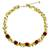 Peridot and carnelian beaded necklace, 'Heaven's Gift' - Thai Handmade Carnelian Cluster Peridot and Quartz Necklace thumbail