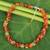 Carnelian and peridot beaded necklace, 'Heaven's Gift' - Thai Handmade Carnelian Necklace with Peridot Clusters thumbail