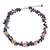 Amethyst and freshwater pearl beaded necklace, 'Heaven's Gift' - Thai Handmade Amethyst Necklace with Pearl Clusters (image 2a) thumbail
