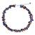 Cultured pearl and lapis lazuli beaded choker, 'Luscious Chic' - Hand Knotted Pearl Lapis Lazuli Carnelian Choker Necklace (image 2a) thumbail