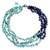 Lapis lazuli beaded necklace, 'Rivers of Blue' - Handcrafted Lapis Lazuli Necklace Thai Beaded Jewelry (image 2a) thumbail