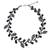 Cultured pearl and onyx beaded necklace, 'Sweet Gray Ivy' - Artisan Jewelry Pearl and Gems Necklace (image 2a) thumbail
