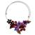 Amethyst and onyx flower necklace, 'Purple Red Bouquet' - Multi Gemstone Handcrafted Necklace (image 2a) thumbail